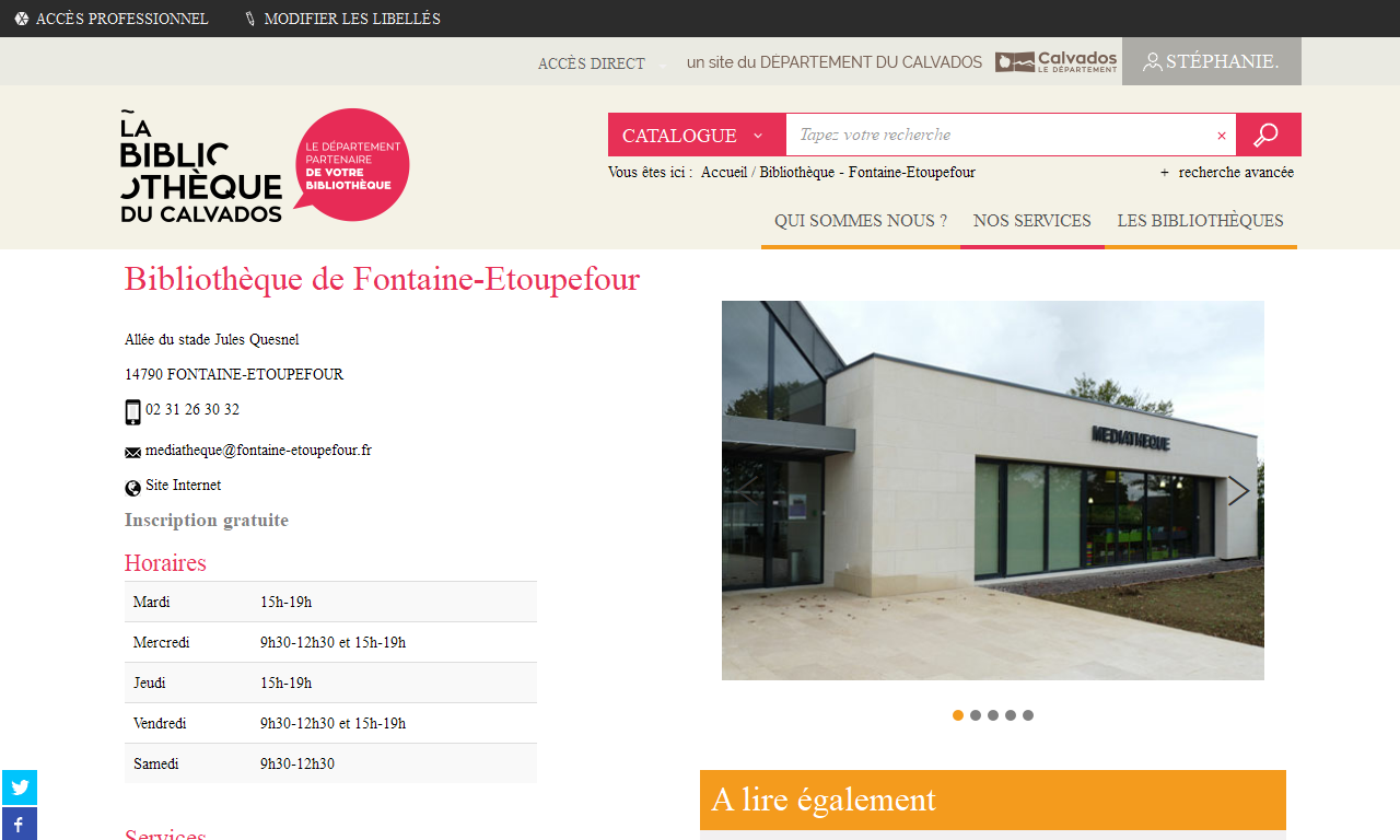 Bibliothèque - Amfreville |